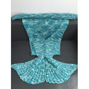 Warmth Openwork Design Acrylic Knitted Mermaid Tail Blanket -