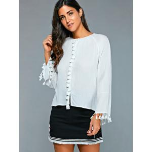 Casual Round Neck Long Sleeve Blouse -