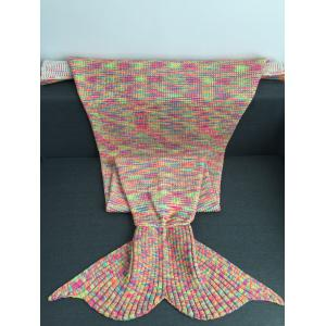 Warmth Acrylic Knitting Colorful Mermaid Tail Design Blanket -