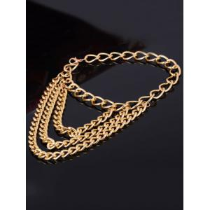 Layered Heels Chain Boot Anklet - GOLDEN