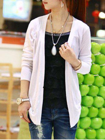 Discount Fitting Open Front Cardigan