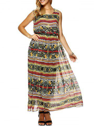 Discount Printed Chiffon Beach Dress