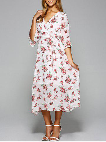 Chic Tiny Floral Vintage Dress