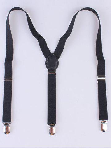 Buy Casual Adjustable Elastic Suspenders BLACK