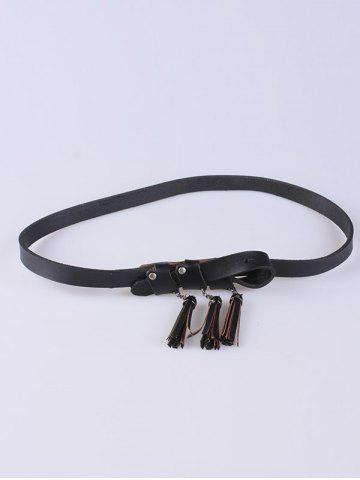 Trendy Out Wear Tassel Pendant Knotted Belt