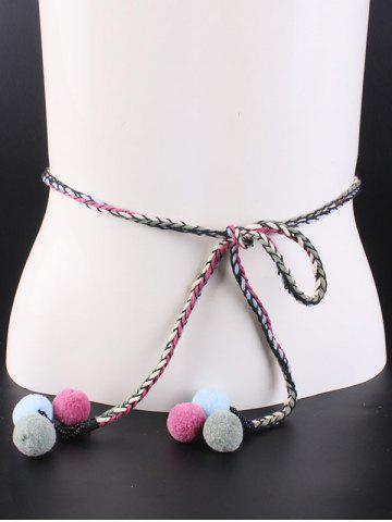 Discount Out Wear Stuff Ball Weaving Knotted Belt