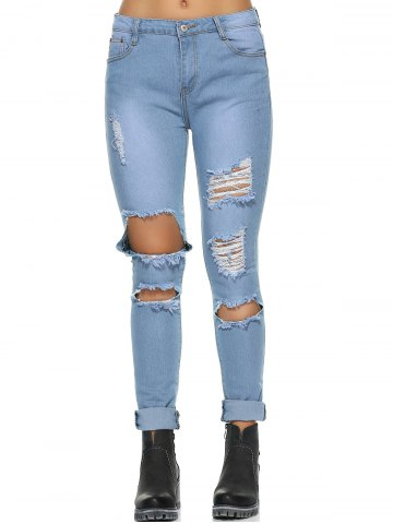 New Casual Do Old Ripped Jeans