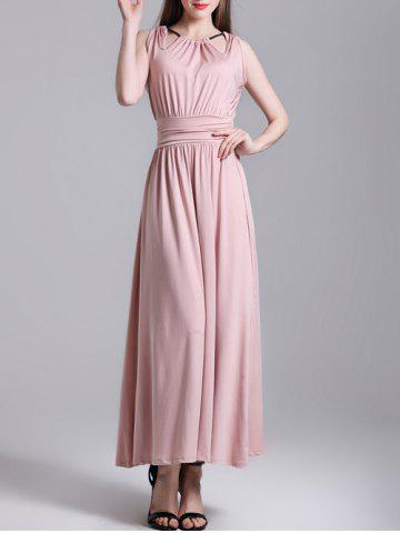 New String Ruched Maxi Dress