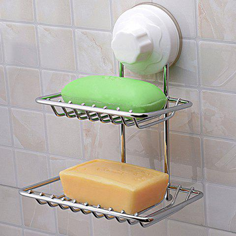 Unique Strong Suction Cup Double Layer Soap Holder