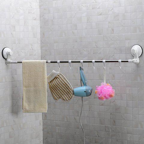 Fashion Rotatable Scalable Wall Mounted Suction Cup Stainless Steel Towel Rack