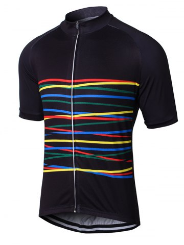 Chic Colorful Raglan Sleeve Zip Up Cycling Top