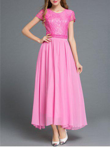 Trendy Embroidered Lace Splicing Maxi Dress