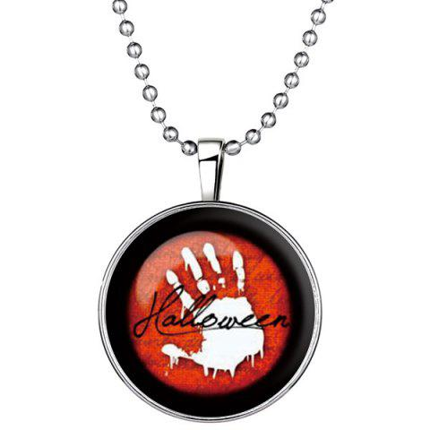 Online Vintage Blood Hand Pendant Halloween Necklace