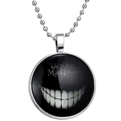 Hot Were Ah Mad Here Halloween Necklace SILVER