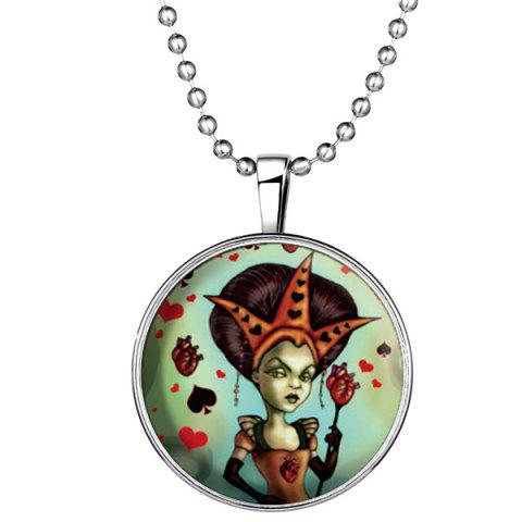 Best Heart Poker Witch Flower Halloween Necklace