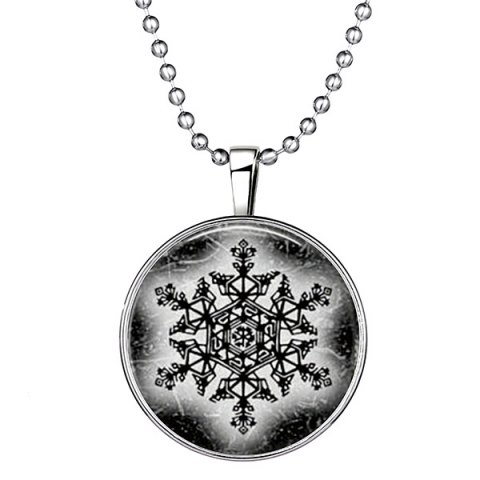 Shop Geometric Devil Snowflake Halloween Christmas Necklace SILVER