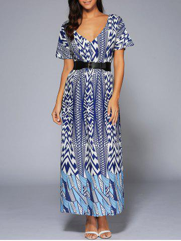Outfit V-Neck High Waist Zig Zag Dress