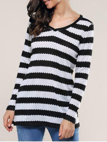 Store Striped Knitting Blouse