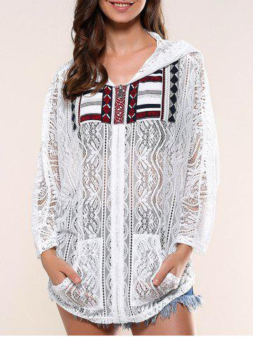 Fashion Pockets Design Lace Hoodie