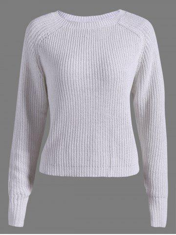 Outfits Casual Raglan Sleeve Short Sweater