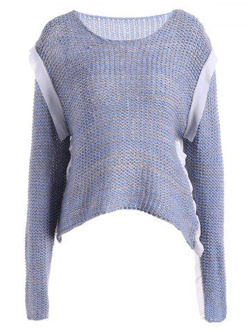 Chic Casual Raglan Sleeve Cropped Sweater