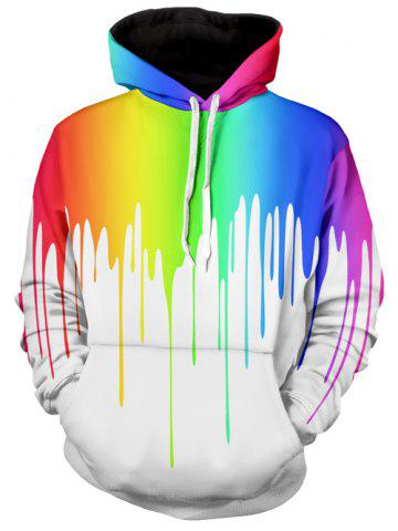 Outfits Multicolor Paint Dripping Long Sleeve Hoodie