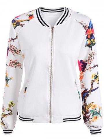 Fancy Slim Floral Bomber Jacket