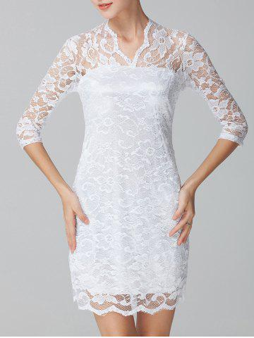 Shops See-Through Lace Bodycon Dress