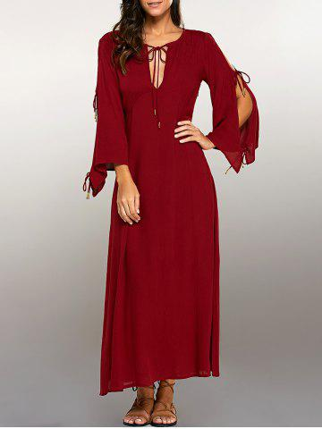 Shop Split Sleeve High Waist Maxi Dress