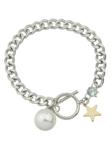 Shops Toggle Star Faux Pearl Charm Bracelet