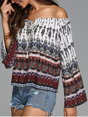 Store Afican Print Off The Shoulder Blouse