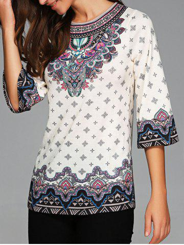 Fashion Tribe Print 3/4 Sleeve Tee