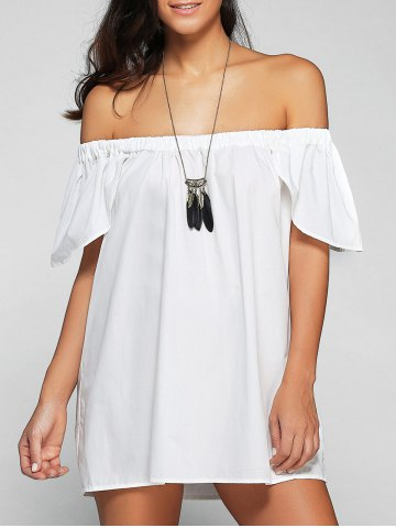 New Off The Shoulder Cap Sleeve Loose Blouse