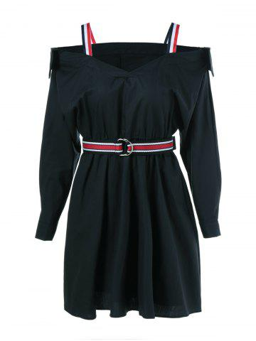 Outfits High Waist Belted Pleated Dress
