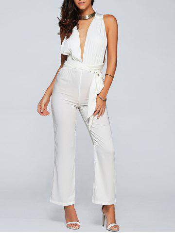 New Low Cut Back Criss Cross Jumpsuit