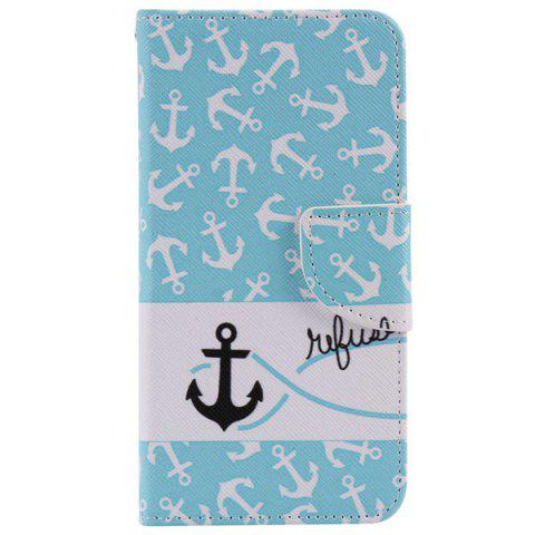 Hot Anchor Pattern Leather Wallet Phone Case For iPhone 7 Plus