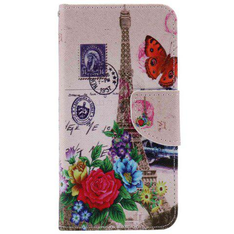 Fashion Wallet Design Tower Flower Pattern Phone Case For iPhone 7