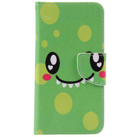 Sale Smiling Face PU Wallet Design Phone Case For iPhone 7 Plus