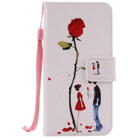 Shops Wallet Design Rose Lovers Pattern Phone Case For iPhone 7 Plus