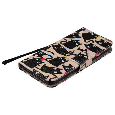 Fashion Cartoon Cat PU Wallet Design Phone Case For iPhone 7 Plus - HAWKSBILL  Mobile