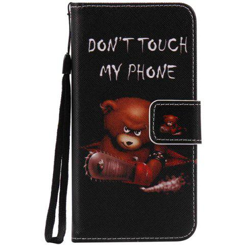 Discount Wallet Design Bear Letter Pattern Phone Case For iPhone 7