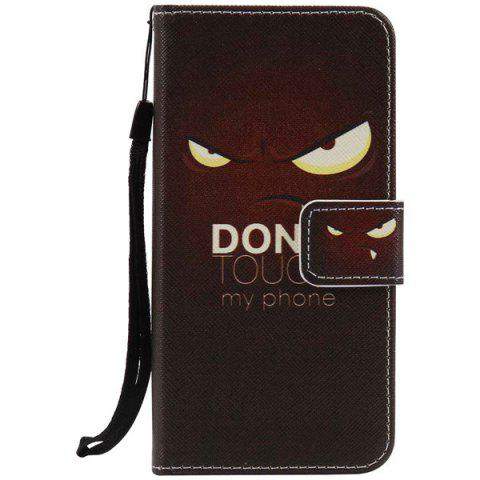 New Eyes Letter PU Wallet Design Phone Case For iPhone 7