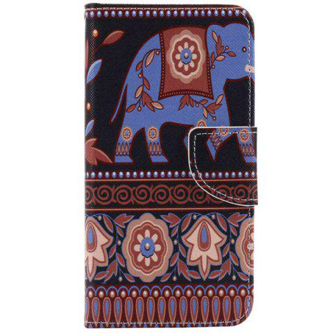 Hot Ethnic Floral Elephant PU Wallet Design Phone Case For iPhone 7