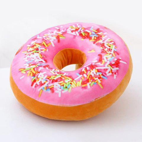 Discount Soft Plush Cushion Doughnut Shape Pillow PINK