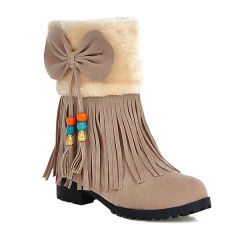 Fashion Bow Tassels Beading Boots