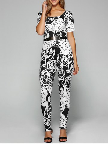 Unique Skinny Belted Print Jumpsuit