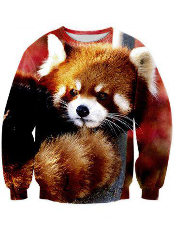 Unique 3D Animal Print Long Sleeve Crew Neck Sweatshirt - S COLORMIX Mobile