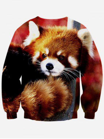 Fashion 3D Animal Print Long Sleeve Crew Neck Sweatshirt - S COLORMIX Mobile