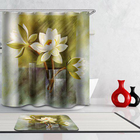 Buy Waterproof Mouldproof Flowers Printed Shower Curtain - COLORMIX  Mobile