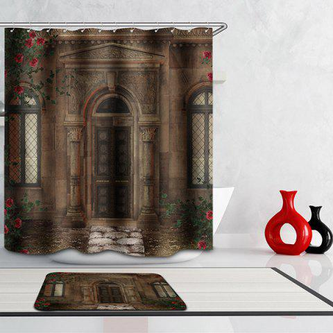 Fashion Waterproof Mouldproof Door Printed Shower Curtain - COLORMIX  Mobile